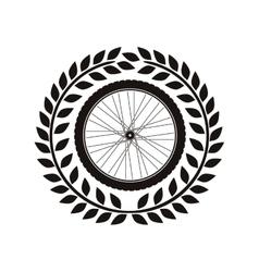 Bike wheel tire vector image