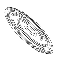 Black hole icon in outline style isolated on white vector image