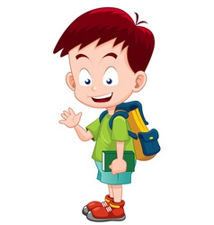 Boy back to school vector image vector image
