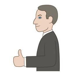 Businessman showing thumbs up vector image