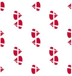 Danish flag seamless pattern vector