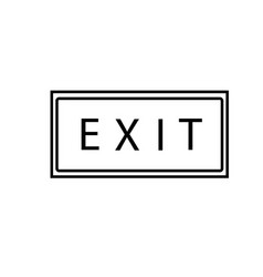 exit banner icon vector image