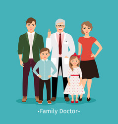 family doctor medicine concept vector image vector image