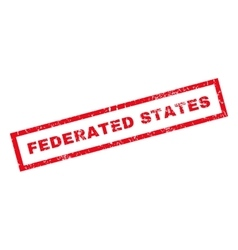 Federated states rubber stamp vector