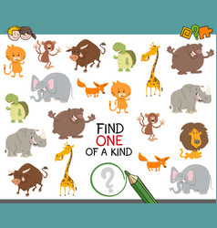 Find one of a kind game vector
