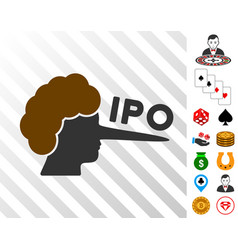 Ipo lier icon with bonus vector