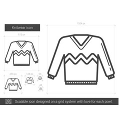 knitwear line icon vector image