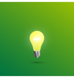 Light shines on a green background vector image vector image