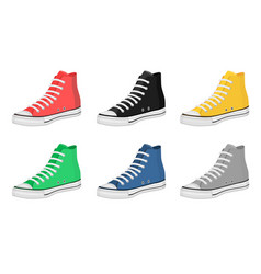 Mens shoes keds vector