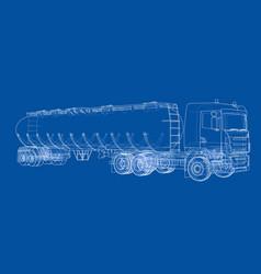 Oil truck sketch vector