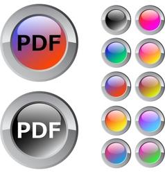 PDF multicolor round button vector image vector image