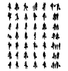People in the shopping vector