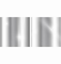 silver gradients background realistic metallic vector image vector image