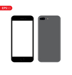 Smartphone mobile phone grey color mockup vector