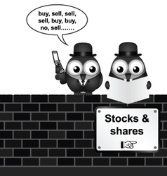 Stocks and Shares vector image