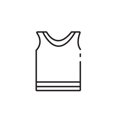 Thin line sportswear icon vector