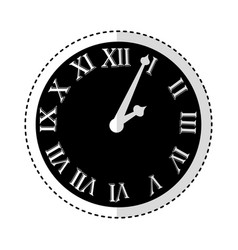 watch with roman numbers vector image vector image