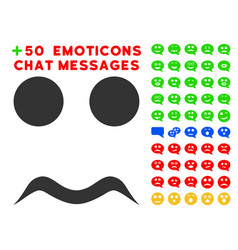 worried smile icon with bonus emoticon clipart vector image vector image