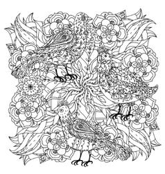 Coloring book antistress style picture vector