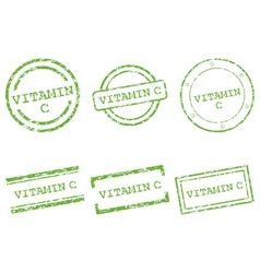 Vitamin c stamps vector