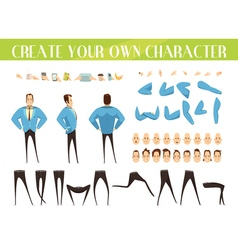 Set For Creation Of Businessman vector image
