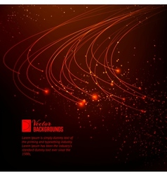 Abstract red lights vector