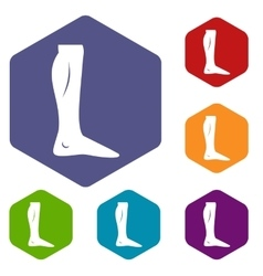 Human leg icons set vector