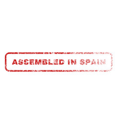 Assembled in spain rubber stamp vector