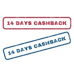 14 days cashback rubber stamps vector
