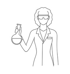 Chemistprofessions single icon in outline style vector