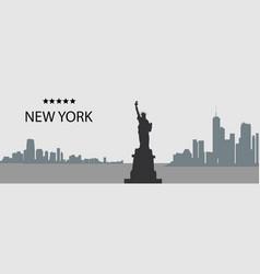 city silhouette- new york vector image