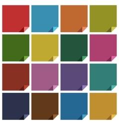 16 retro colored blank square vector image vector image
