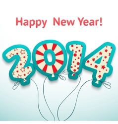 Happy new year 2014 retro greeting card with vector