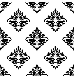 Geometric arabesque pattern with floral motif vector