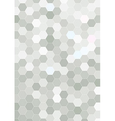 Hexagon halftone background template vector