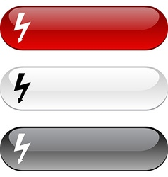 Warning button vector
