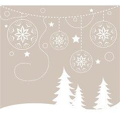 Chirstmas card background vector