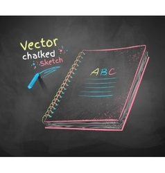 School notebook vector image