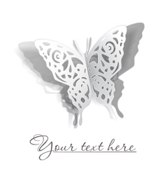 Butterfly cutout vector