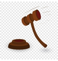 Gavel cartoon vector