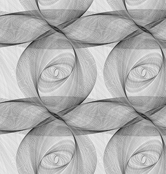 Repeating monochrome ellipse fractal pattern vector