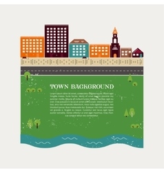 Town background template vector