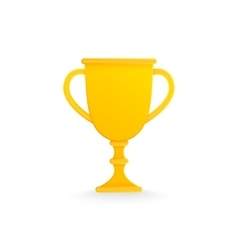 Golden trophy cup isolated on white vector