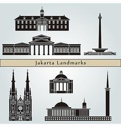 Jakarta landmarks and monuments vector