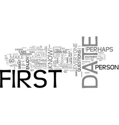 Advice for the big first date text word cloud vector