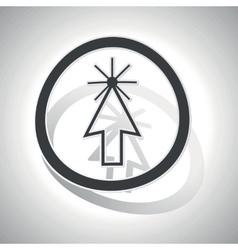 Arrow cursor sign sticker curved vector