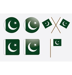 badges with flag of Pakistan vector image vector image