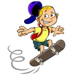 boy skateboarding vector image
