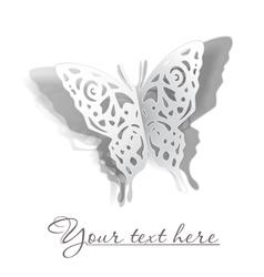 Butterfly cutout vector