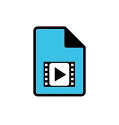 Computer video file icon vector